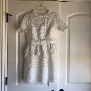 Dresses & Skirts - Brand new, stunning white lace minidress